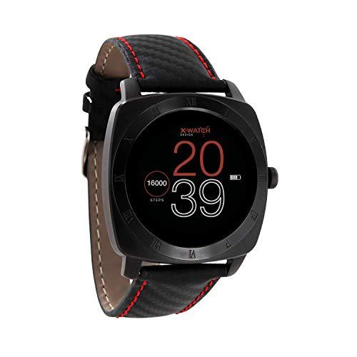 X-WATCH 54013 NARA XW PRO Smartwatch Herren BC Carbon Red Black - Sportuhr