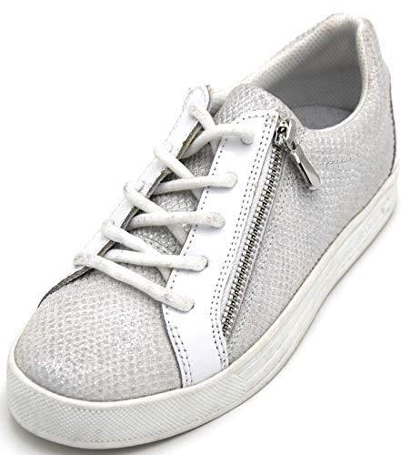 Trussardi Jeans Vrouw Sneaker Casual Gratis Tijd Reptiel Stempel Code 79A00237