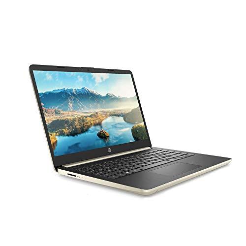 "Newest Flagship HP 14 HD Thin & Light Laptop Computer PC- 14"" Micro-Edge Display 10th Gen Intel Quad-Core i5-1035G1 8GB RAM 256GB PCIe SSD + 16GB Optane BT USB Type-C WiFi HDMI Webcam Win 10 -Gold"