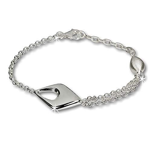 SilberDream Damen-Armband Drop 925 Sterling Silber 18,5cm SDA413