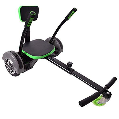 """TE-Trend Hoverboard Sitz Hoverseat Hoverkart Scooter Kart Gokart Aufsatz 6,5"""" 8"""" 10""""Zoll Boards schwarz grün"""