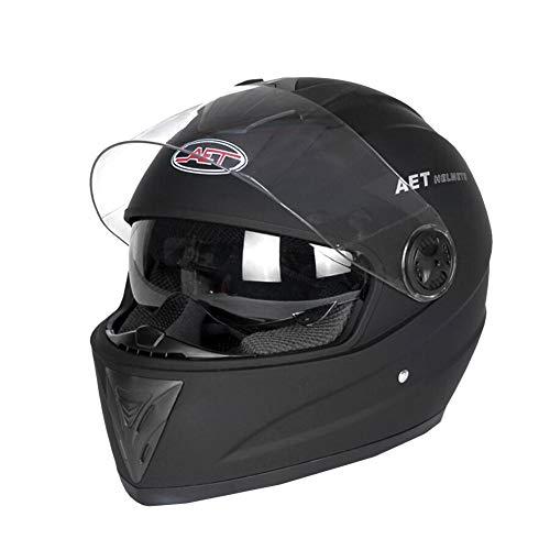 briskay Casco da Moto Casco Integrale Casco per Auto elettrica Completamente Coperto Doppia Lente Uomo e Donna Quattro Stagioni Inverno Anti-F