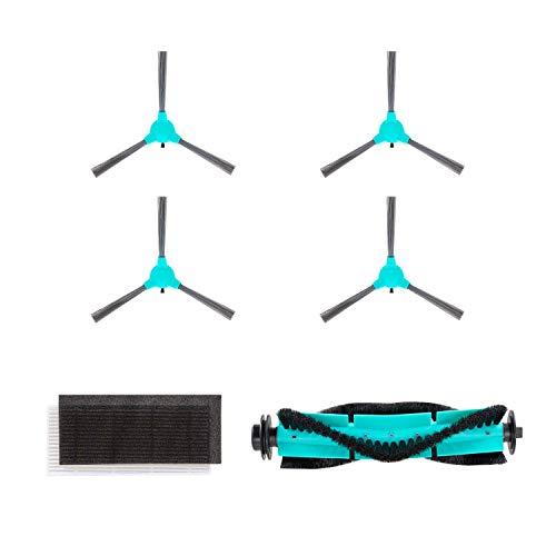 DEENKEE DK600 Staubsauger Roboter Zubehör, saugroboter Ersatzteile (4xSeitenbürsten, 1xHEPA-Filter, 1xZentrale Bürste)