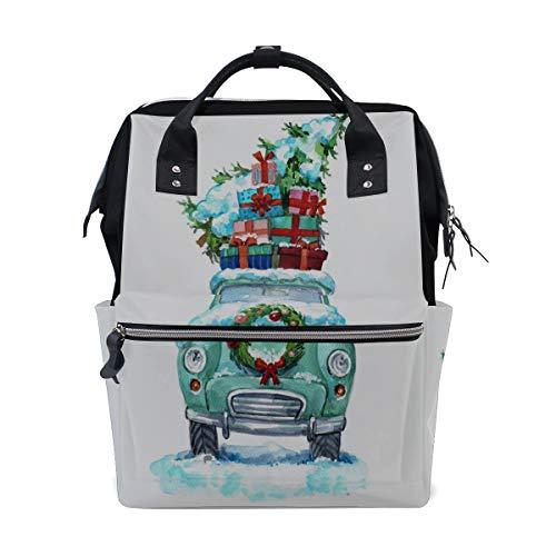 Retro Cooles Lkw Auto Fahrzeug Große Kapazität Windel Taschen Mummy Rucksack Multi Funktionen Wickeltasche Tasche Handtasche Für Kinder Babypflege Reise Täglichen Frauen