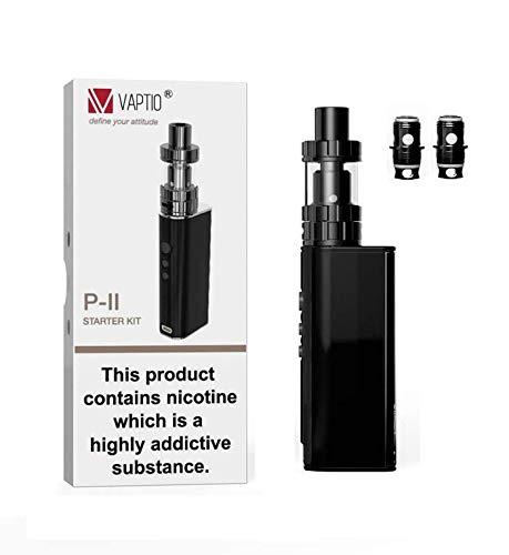 Vaptio P-II E-Zigaretten-Starter-Kit, einstellbare 75-Watt-Leistung mit TC- (Temperaturregelung) 2,0 ml großes Fassungsvermögen, keine E-Flüssigkeit, kein Nikotin.