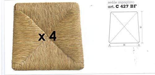 Generico Sedute impagliate (MOD. 427 Silvana) Ricambi per sedie [Set di 4] (MOD. 427 Silvana