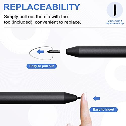 TiMOVO USI Stylus Stift Kompatibel mit Chromebook, 4096 Druckstufen Eingabestift Palm Rejection Chromebook Duet, HP Chromebook x360 12b/14c, Chromebook Flip C436/C536/CX5, Galaxy Chromebook, Grau - 6