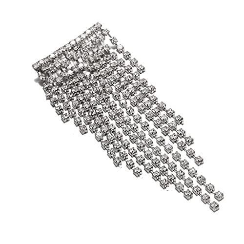 Borla Broches de diamantes de imitación Ramillete de lujo Vestido de novia Joyas Cadena de cristal completa Arco Broche de pez Alfileres para banquetes de boda Regalos