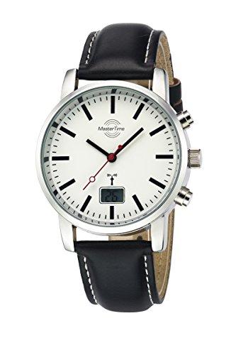 Master Time Funk Quarz Herren Uhr Analog-Digital mit Leder Armband MTGS-10440-11L