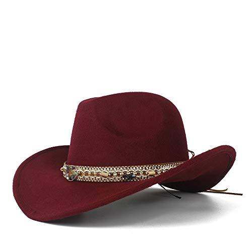 LQ-BNM Panamahut - Vintage Western Cowboyhoed, hoed met brede rand, hoed met brede rand De kerk, koepelhoed maat 56 - 58 cm