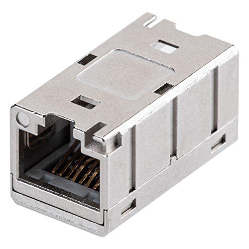 サンワダイレクト LAN中継コネクタ RJ-45 CAT6A対応 PoE STP UTP対応 500-LAN-EX6AS