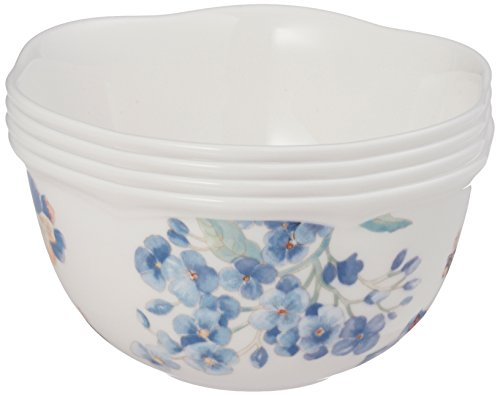 Lenox 833415 Blue Butterfly Meadow 4Pc Dessert Bowl Set, 2.1 LB