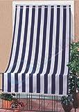 GBiancheria Tenda da Sole A Caduta per Esterno Classic Rigata per Veranda, Balcone, TERRAZZO, Mis.140X300 (Blu/Bianco)