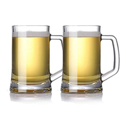 Z·Bling Vasos de Cerveza de 500ML/660ML con asa,Jarra de Cerveza de 2 Piezas,Oktoberfest,Cerveza,con Adornos,diseño clásico