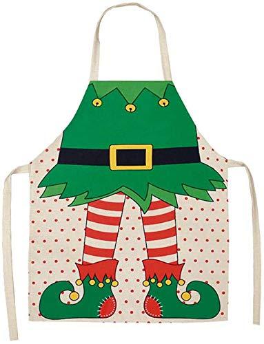 XinYiC Grembiule da cucina impermeabile con decorazione natalizia, grembiule da cena e feste, per adulti
