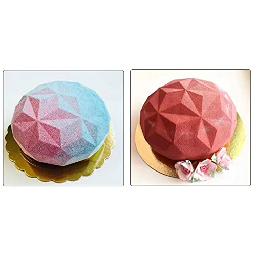 HGFJG Molde De Silicona 3D para Pasteles, Mousse De Diamantes, Moldes De Silicona para Postres, Moldes para Pasteles De Gasa para Hornear para Bodas
