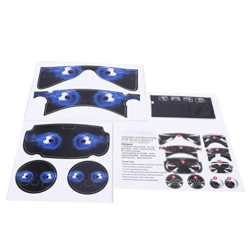 Etiqueta adhesiva protectora para auriculares, envoltura protectora para auriculares, pegatinas protectoras para auriculares con controlador(azul)