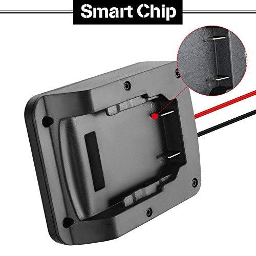 Flutesan Battery Adapter Dock Holder Power Mount Connector Compatible with Dewalt 20V Battery, 18V Battery Dock Power Connector 12 Gauge Robotics (2 Pieces)