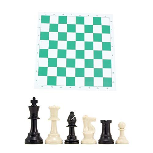 Ajedrez - Juego de ajedrez con triple peso y alfombrilla para ratón.
