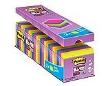 Post-It Super Sticky Tradizionale Confezione Risparmio, Foglietti Adesivi Colorati, Rimovi...