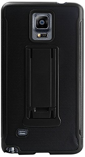 Reiko Wireless Horizontal and Vertical Kickstand Case for Samsung Galaxy Note4/N910V/N910P/N910T/N910R4 - Black+Red