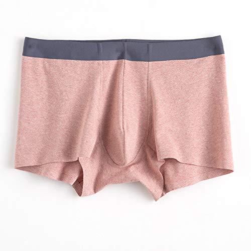 HEEGNPD, boxershorts voor heren, jeugd, katoen, ademend, midtaille, short, roze, XXXL