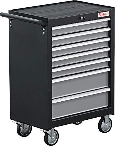 BGS 2001 | Werkstattwagen | 7 Schubladen | leer | abschließbar | massives Metall,Schwarz