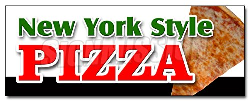 """36"""" New York Style Pizza Decal Sticker by The Slice take Out Carry Pizzeria"""