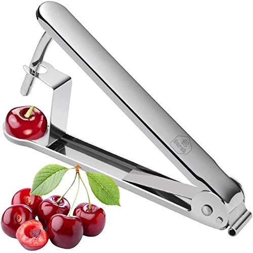 MOC Kirschenentkerner Kirsche und Oliven Entkerner Kirschentkernen Edelstahl Küchenwerkzeuge für Schnell Entfernen Früchtsteinen