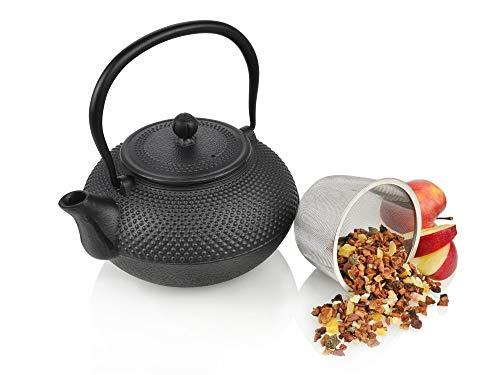 Gusseisen Teekanne 1,25 L inkl. Teesieb by Sänger schwarz asiatisches Design