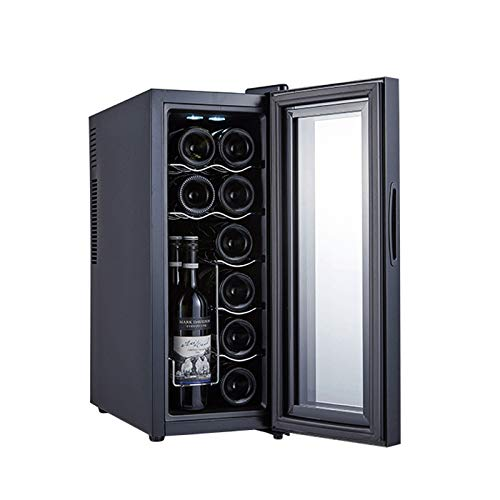 MINGDIAN Wine Cooler, Built-in Wine Refrigerator 12 Bottle with Compressor Cooling,Constant Temperature System,Front Vent, Stainless Steel Glass Door, Fashion Wine Fridge for Home,Bar and Office