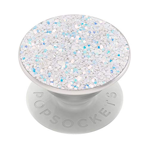 PopSockets: PopGrip with Swappable Top for Phones & Tablets - Sparkle Snow White