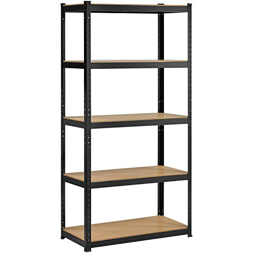 YAHEETECH 71in Storage Shelves 5-Tier Heavy Duty Shelving Unit Steel Garage Shelf Multi-Use Storage Rack for Home Office Garage 355 x 175 x 71inch