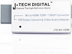 J-Tech Digital JTD-WII-HDMI Wii to HDMI 720P/1080P Converter HD Output Upscaling Video/Audio Adapter