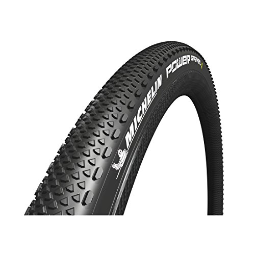 puissant Michelin Tire 700 × 40 (40-622) Power Gravel Tubeless Flexible Mix Bike, Noir, Simple