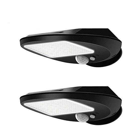 30 LED Solar Lights, EMIUP Outdoor Solar Motion Sensor Lights Security Waterproof Wireless Bright for Driveway Garden Wall Deck Yard Patio Step Stair (2 Pack)