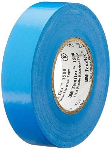 3M TSCH1925 Temflex 1500 Vinyl Elektro-Isolierband, 19 mm x 25 m, 0,15 mm, Blau