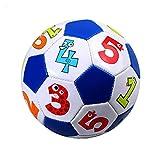 Balón de fútbol inflable de 15,2 cm, pelota de entrenamiento hinchable, PVC, fútbol suave al aire libre, juego para niños