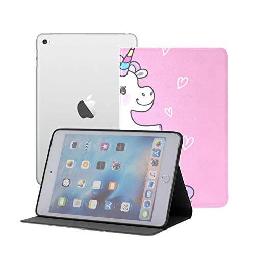 iPad Mini 1/2/3 Case - 360 Degree Rotating Stand Smart Cover Case with Auto Sleep Wake Feature,Cute Fairy Unicorn Mermaid Tail Rainbow