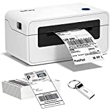 Impresora de etiquetas de envío - Impresora 4x6 con etiquetas 100 piezas de impresión térmica directa para paquetes de envío, fabricante de etiquetas de envío USB de alta velocidad para UPS, FedEx, Etsy, Ebay, impresión de código de barras de Amazon