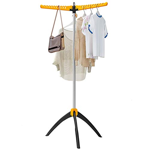N/Z Haushaltsgeräte Kleiderständer Kleiderständer Boden Klappbalkon Garderobe Trockengestell Kinderhandtuchhalter Faltbarer beheizter Wäscheständer (Farbe: Orange Größe: Einheitsgröße)