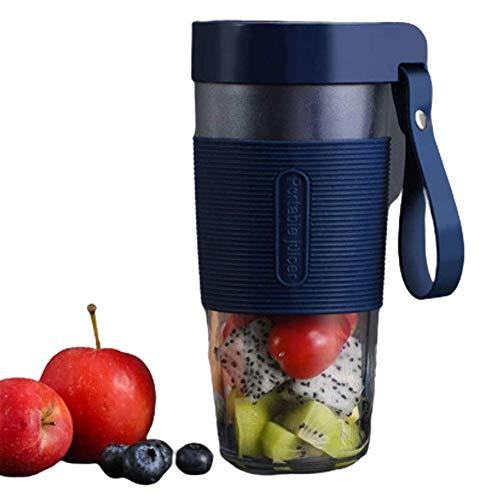 Licuadora Portátil, Mini Licuadora Botella 350Ml Tritan, Licuadora BPA Licuadora Batidos, Frappé, Frutas y Verduras, 21000 Rev/Min, con USB Recargable, Azul, 3.7V