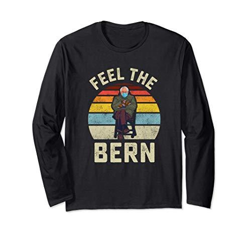 Fühlen Sie die Bern Bernie Sanders Handschuhe Lustige Meme Langarmshirt