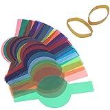 Filtro Colorato Flash Kit di Filtri Combo 20 Pezzi Set di Filtri Colorati Fornisce 20 Diverse Temperature di Colore per Creare Diversi Effetti di Luce per Correzione di Colore e Illuminazione.