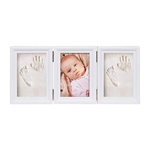 Babyin Kit de Souvenir pour bébé Empreinte Main ou Pieds avec Cadre en Bois …