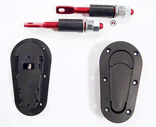 2 attaches capot encastrable sans clef ADNAuto