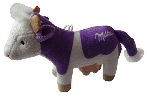 Milka - Lila Kuh - Plüschtier ca. 13 x 9 x 4,5 cm - Schlüsselanhänger