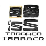 Finest Folia Juego de emblemas Logotipo de lámina, Volante Delantero y Trasero, Incl. Letras SE15 (Carbon Negro)