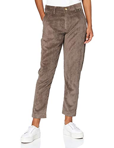 Herrlicher Damen Lovely Cord Stretch Hose, Dark Khaki 420, 31