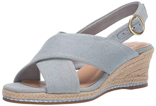 Bella Vita womens Espadrille Wedge Sandal,Lt. Denim,9 N US